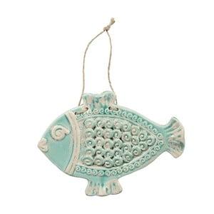 Dekoracja wisząca Fish Poiss Green, 28,5x21 cm