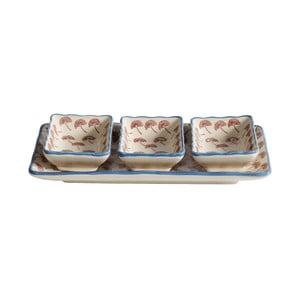 Miski do serwowania z tacą Blossom Dandelion