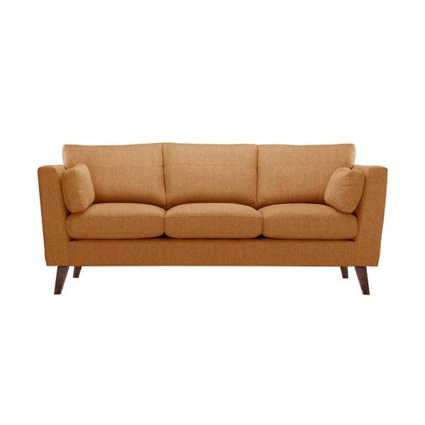 Zestaw fotela i 2 sof dwuosobowej i trzyosobowej Elisa, pomarańczowe