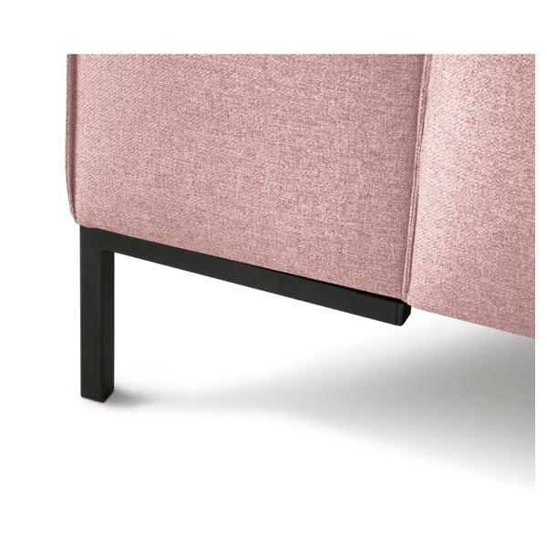 Różowa sofa 3-osobowa Cosmopolitan Design Seville
