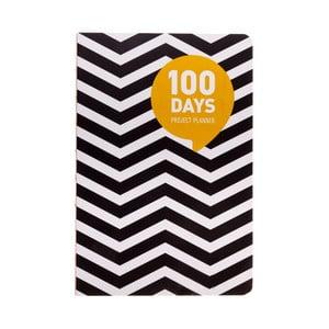 Organizer Languo 100 Days Black/White, w fale