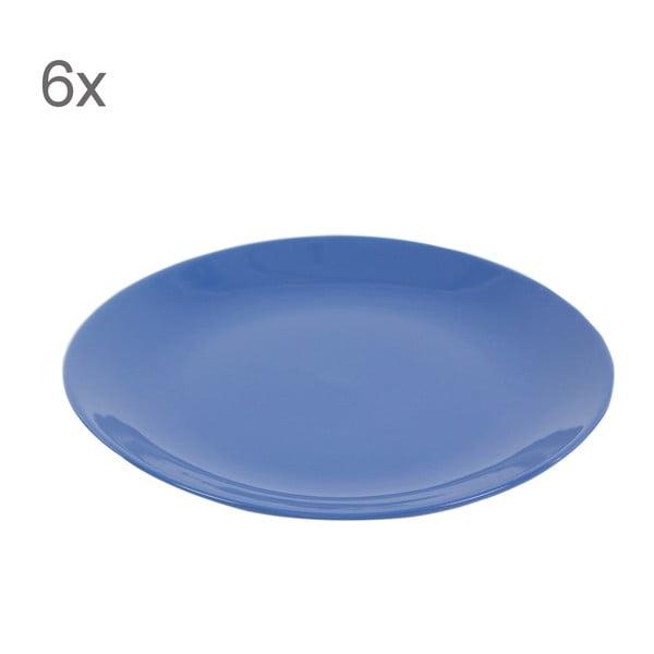 Zestaw 6 talerzy Kaleidoskop 27 cm, niebieski