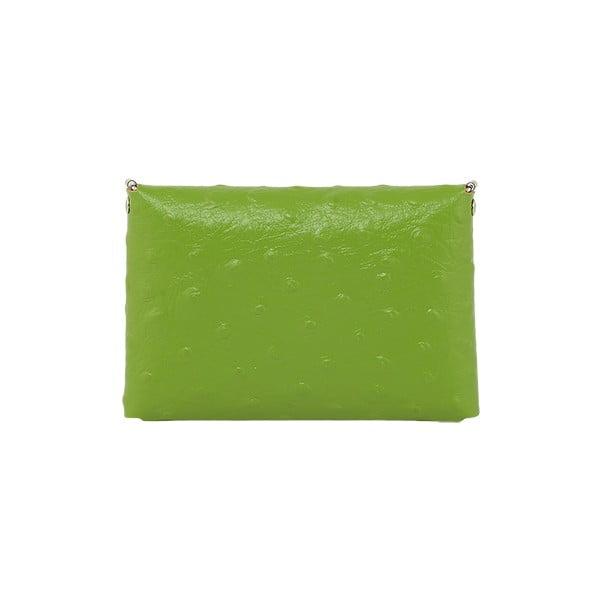 Kopertówka Pochette Ostrich Green