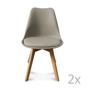 Zestaw 2 szarych krzeseł Opjet Scandinavie