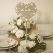 Dekoracja ślubna na stół z lampką LED Wedding