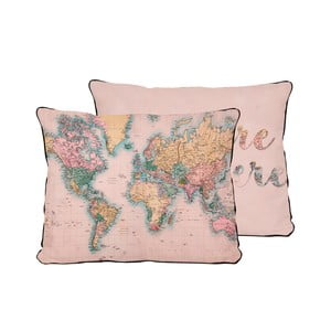Poduszka Really Nice Things Pillow Map, 50x35 cm