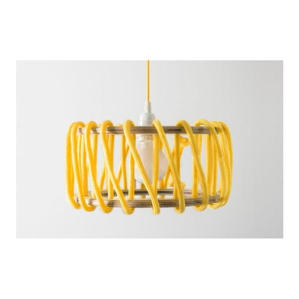 Żółta lampa wisząca EMKO Macaron, 45 cm