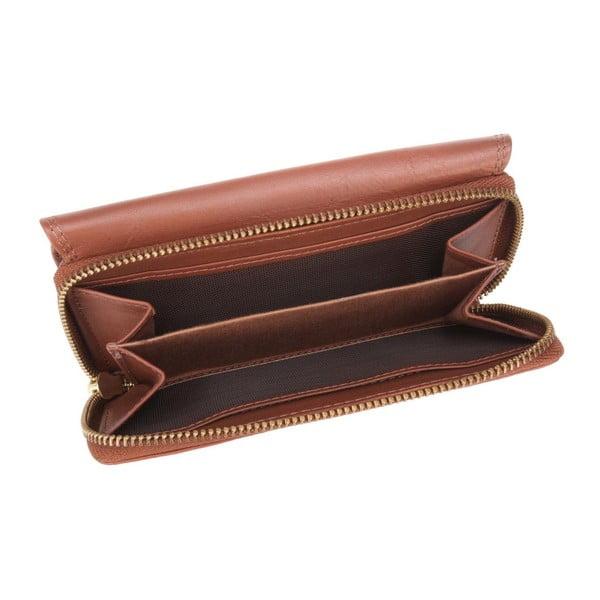 Skórzany portfel Alondra Cognac
