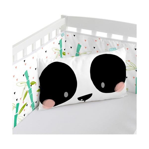 Ochraniacz do łóżeczka Panda Garden, 70x70x70 cm
