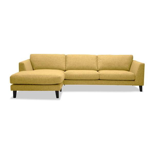 Żółta sofa z szezlongiem po lewej stronie Vivonita Monroe