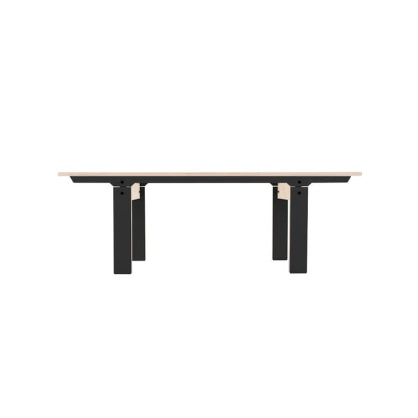 Czarna ławka rform Slim 04, dł. 133 cm