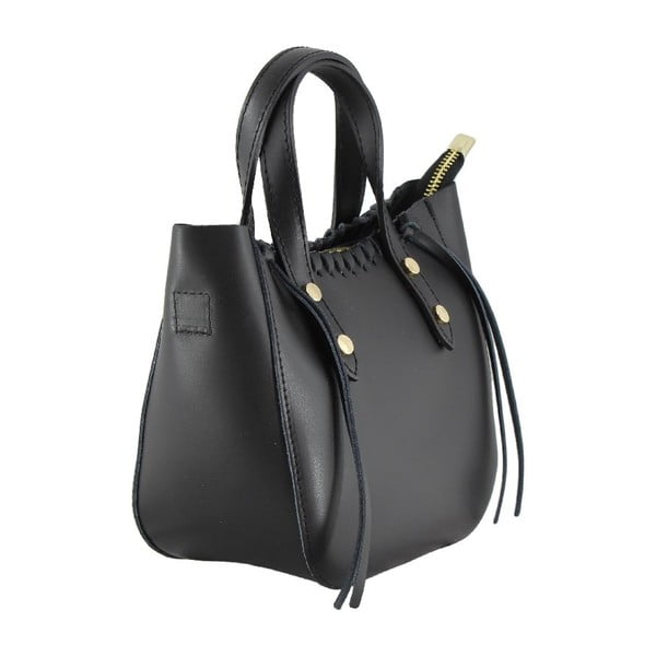 Skórzana torebka Genissa, czarna