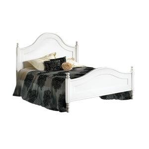 Białe łóżko dwuosobowe z drewna Castagnetti Venezia, 160x200cm