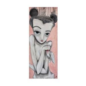 Plakat autorski: Léna Brauner Gołębica, 26x60 cm