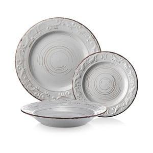 Zestaw 18 talerzy Derby, biały