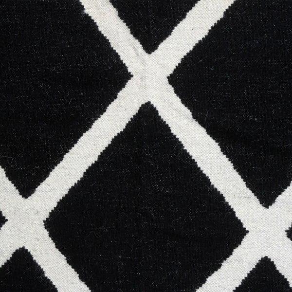 Dywan wełniany Geometry Linie Black & White, 160x230 cm
