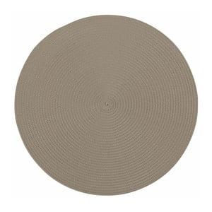 Beżowa okrągła mata stołowa Tiseco Home Studio Round, ø 38 cm