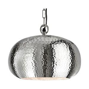 Lampa wisząca Searchlight Industrial Hammered, srebrna
