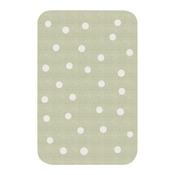 Zielony dywan dziecięcy Zala Living Dots, 67x120 cm