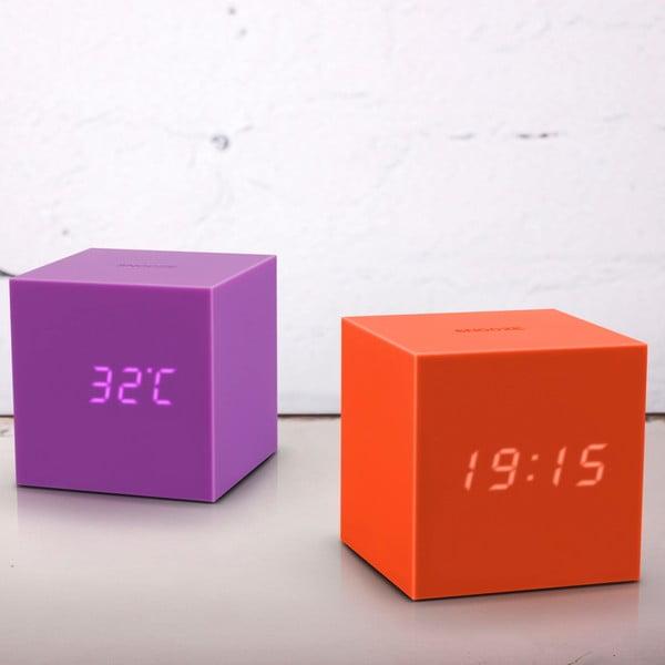 Fioletowy budzik LED Gingko Gravitry Cube