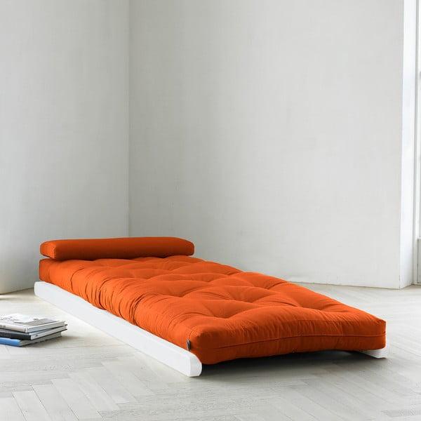 Szezlong Karup Figo, White/Orange, 70 cm