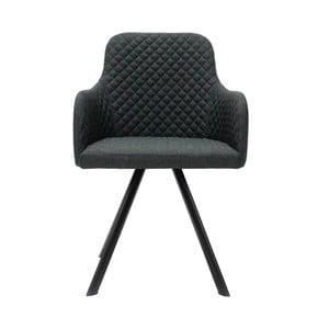 Antracytowe krzesło LABEL51 Tigo
