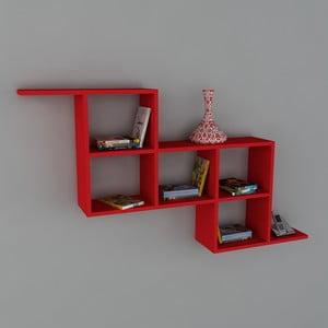 Półka Zeta Book Red, 22x147,2x82,2 cm