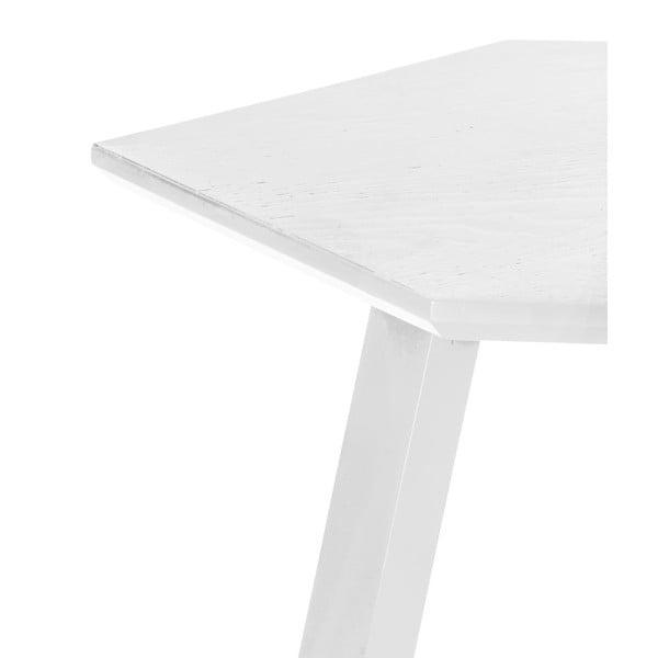 Stolik Hexagon Pearl White, 47x37x47 cm