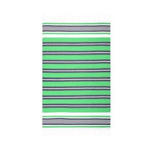 Zielony ręcznik hammam Begonville Rkyer Forest, 180x100 cm