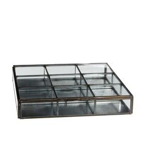 Szklany pojemnik Grazia, 23x23 cm