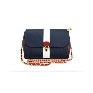 Skórzana torebka Paola Navy/Rosso/Bianco