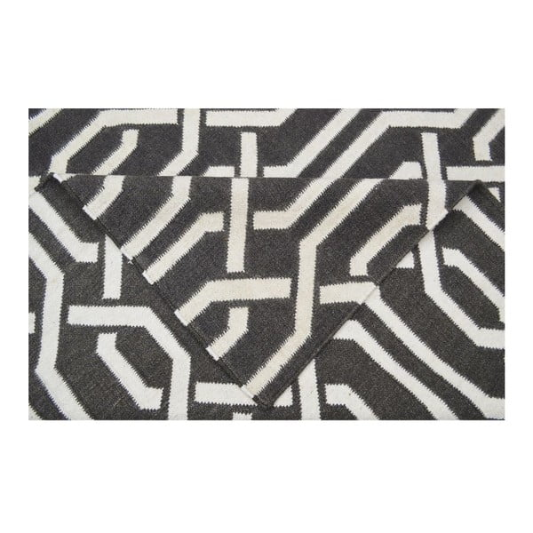 Wełniany dywan Camila Dark Grey, 140x200 cm