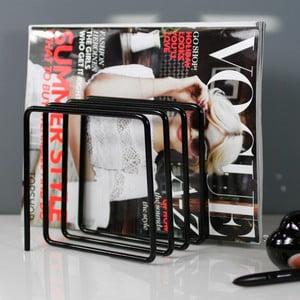Czarny gazetnik Magazine Rack