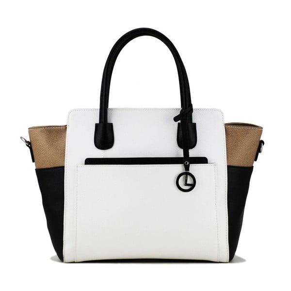 Skórzana torebka Gina Taupe/Bianco