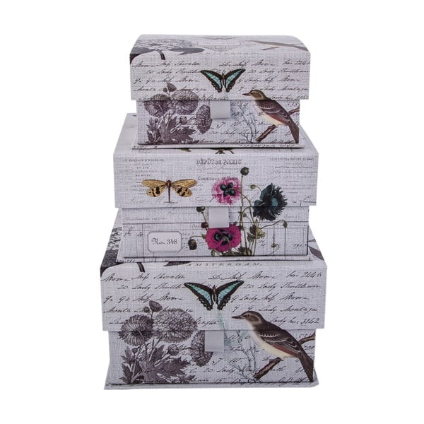 Zestaw 3 pudełek Birds