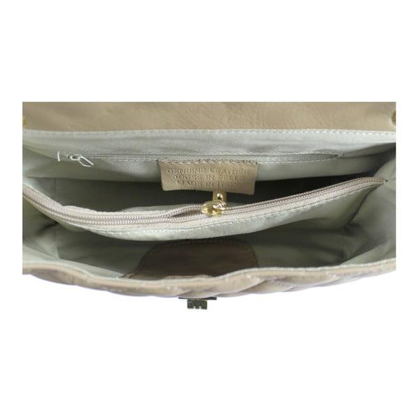 Brązowo-szara skórzana torebka Chiara