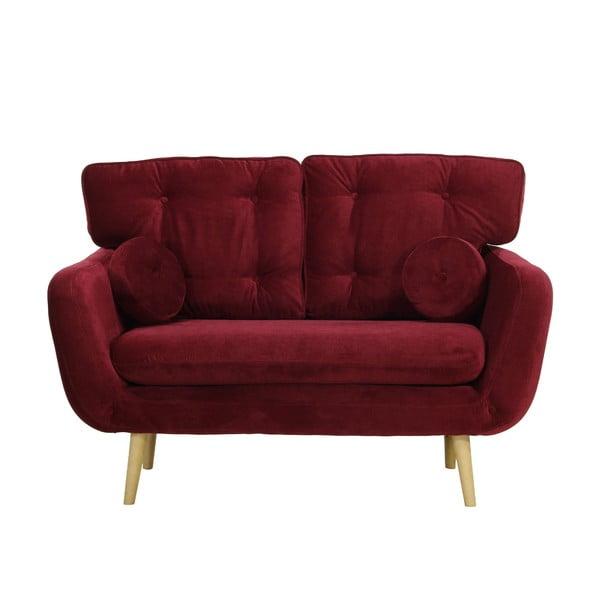 Ciemnoczerwona   sofa dwuosobowa Wintech Alva Faro