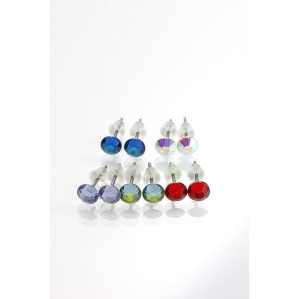 Zestaw 5 par kolczyków z kryształami Swarovski Elements Laura Bruni Goula