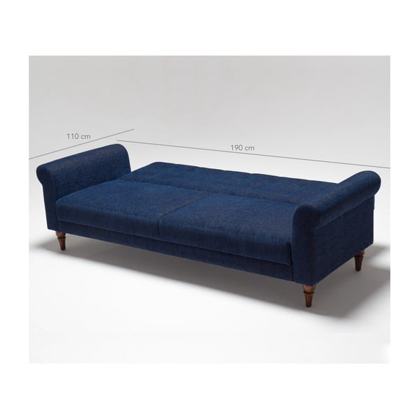 Niebieska sofa rozkładana Balcab Home Gina