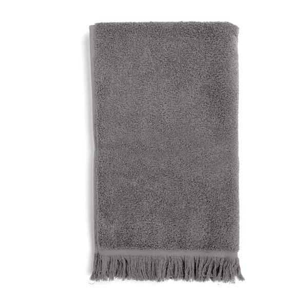 Komplet 2 szarych ręczników kąpielowych Casa Di Bassi Soft, 100x160 cm