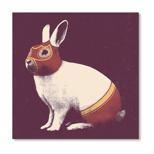 Plakat Rabbit Wrestler, 30x30 cm