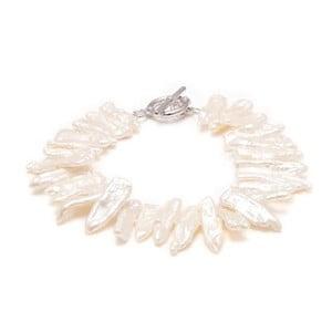 Bransoletka z białych pereł słodkowodnych Biwa