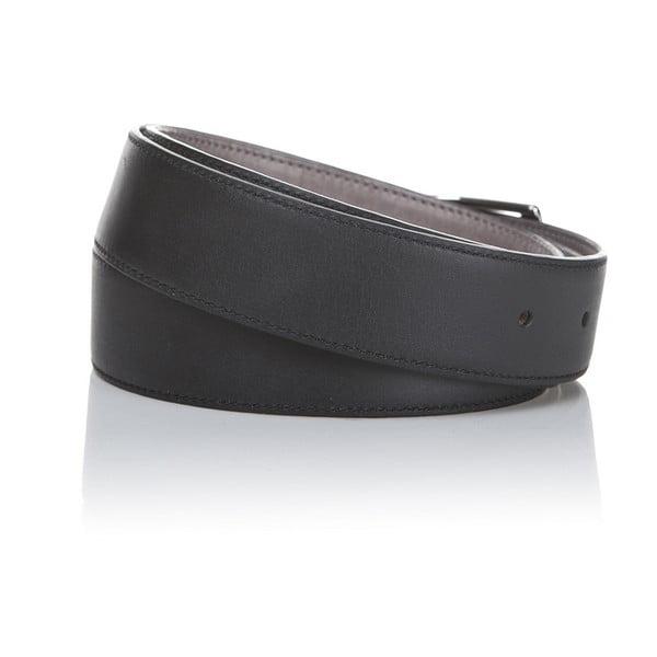 Pasek skórzany Black Grey, 125 cm