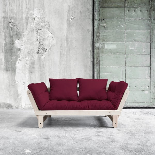 Sofa rozkładana Beat Beech/Light Bordeaux