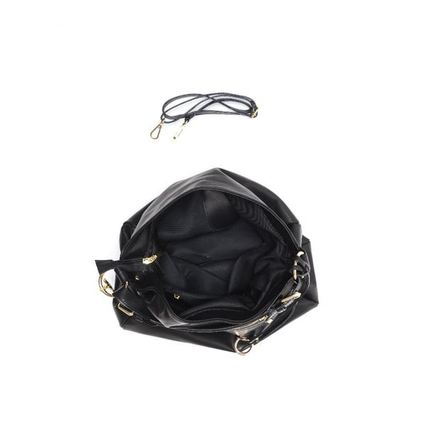 Skórzana torebka Carla Ferreri 2087 Nero