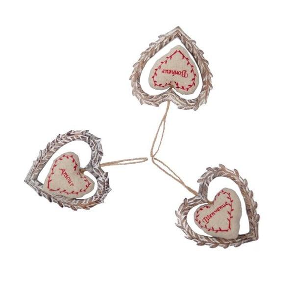 Zestaw 2 wiszących serc Antic Line Amour Nature