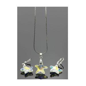 Komplet Swarovski Elements Little Stars AB