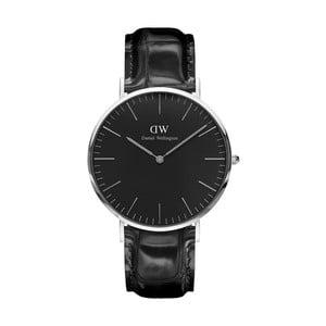 Czarny zegarek unisex DanielWellingtonReadingSilver