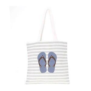 Torba plażowa płócienna Blue Flip Flops