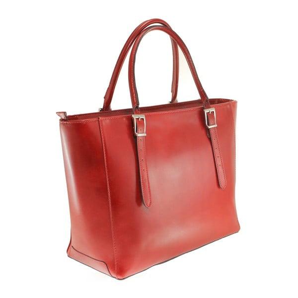 Czerwona skórzana torebka Tami